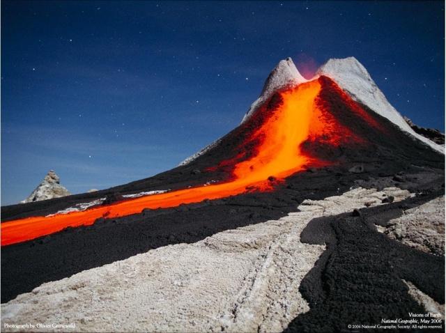 Извержение вулкана Плоский Толбачик Камчатка 2012