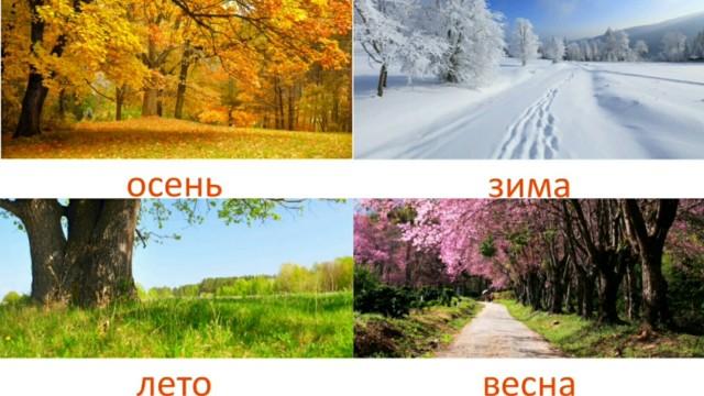 Времена года и погодные явления для детей. Развивающие карточки для детей