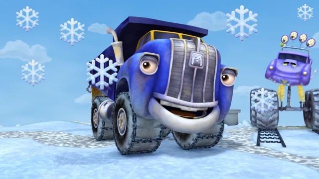 Мультики - Трактаун - Зимний сборник - Мультфильмы для детей про машинки - грузовики
