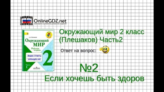 Задание 2 Если хочешь быть здоров - Окружающий мир 2 класс (Плешаков А.А.) 2 часть