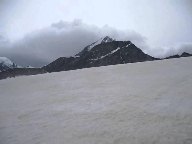 Ледник перед перевалом Дружба
