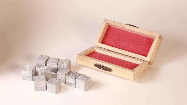 Камни для виски 10шт в Дубовой коробке Карельский ледник в Минске на peresvet.by