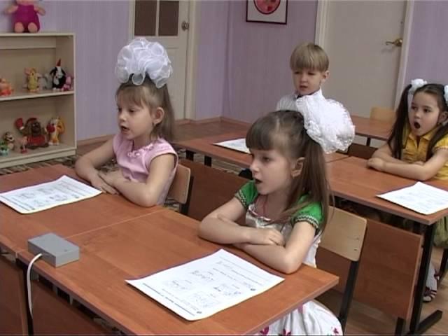 занятие в детском саду Времена года на английском языке