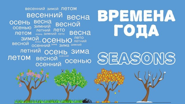 Intermediate Russian: SEASONS. Времена года. Летний - лето - летом