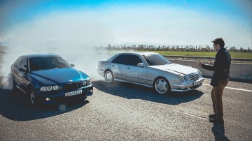 Битва двух ЛЕГЕНД! BMW E39 M5 =VS= W210 AMG 5.5 + Розыгрыш iPhone 7