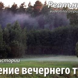 Рождение вечернего тумана. Интересное и очень кратковременнное атмосферное явление.