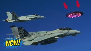 Погоня F-18 за НЛО! Пентагон США рассекретил видео запись!